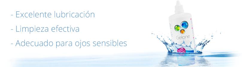 Líquido Gelone - excelente lubricación, limpieza efectiva, adecuado para ojos sensibles