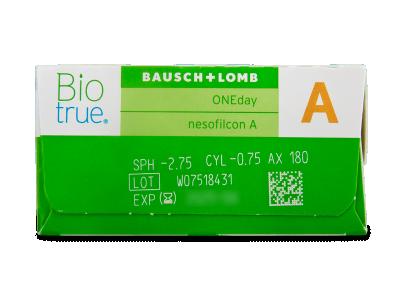 Biotrue ONEday for Astigmatism (90 lentillas) - Previsualización de atributos