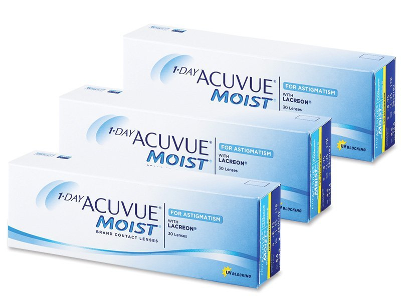1 Day Acuvue Moist for Astigmatism (90 Lentillas) - Lentillas tóricas - Johnson and Johnson