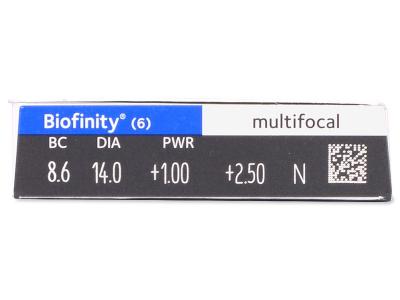 Biofinity Multifocal (6lentillas) - Previsualización de atributos