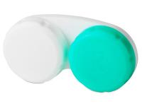 Estuche blanco-verde