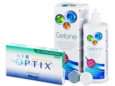 Air Optix for Astigmatism (6 Lentillas) +LíquidoGelone 360ml - Diseño antiguo
