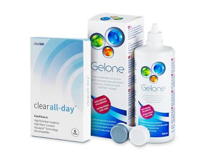 Clear All-Day (6lentillas) +LíquidoGelone360 ml - Pack ahorro