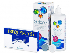 Packs ahorro de lentillas + líquido - Frequency 55 (6 Lentillas) +LíquidoGelone 360 ml