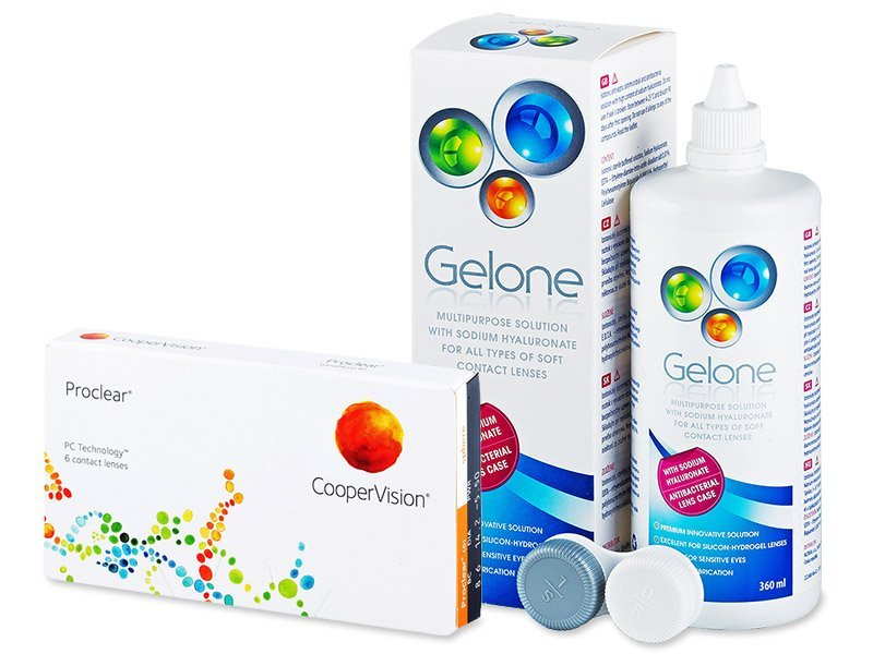 Proclear Sphere (6 Lentillas) +LíquidoGelone 360 ml - Pack ahorro
