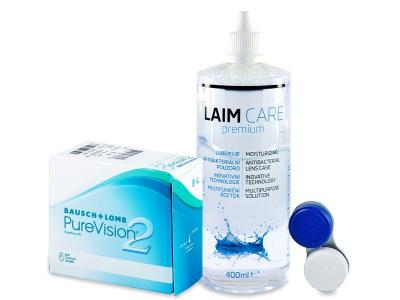 PureVision 2 (6lentillas) +LíquidoLaim-Care400ml