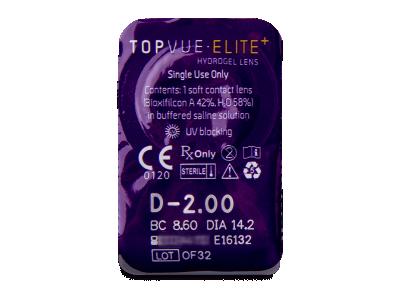 TopVue Elite+ (10 lentillas) - Previsualización del blister