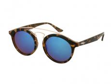Gafas de sol Panthos - Gafas de sol para niños Alensa Panto Havana Blue Mirror