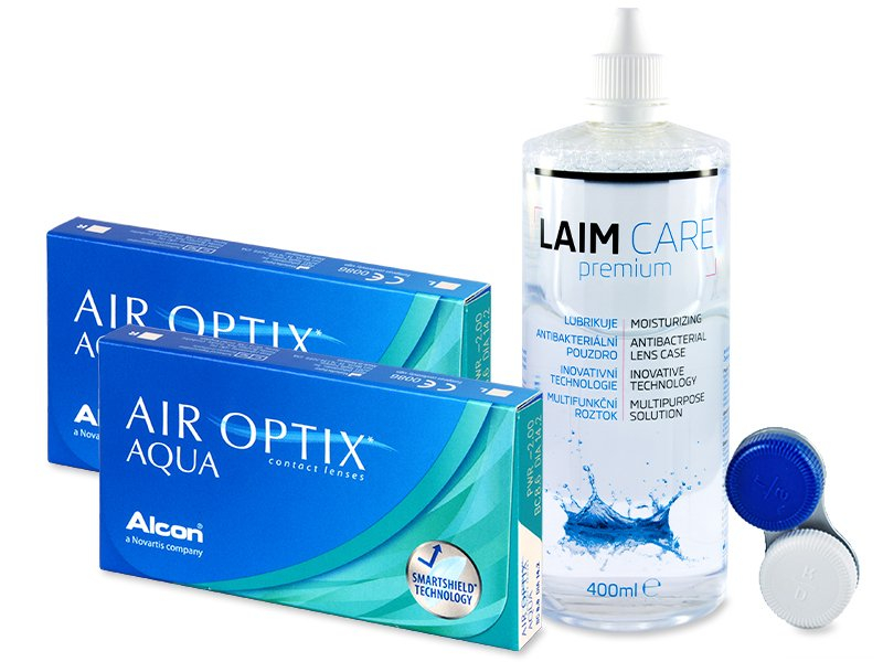Air Optix Aqua (2x3 Lentillas) + Líquido Laim-Care 400ml - Pack ahorro