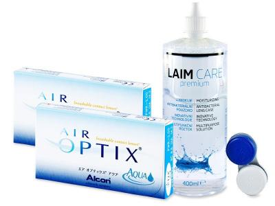 Air Optix Aqua (2x3Lentillas) +LíquidoLaim-Care400ml - Diseño antiguo