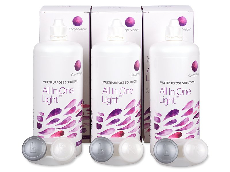 Líquido All In One Light 3 x 360 ml  - Pack ahorro - solución triple