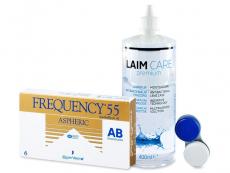 Packs ahorro de lentillas + líquido - Frequency 55 Aspheric (6 Lentillas) +LíquidoLaim-Care400ml