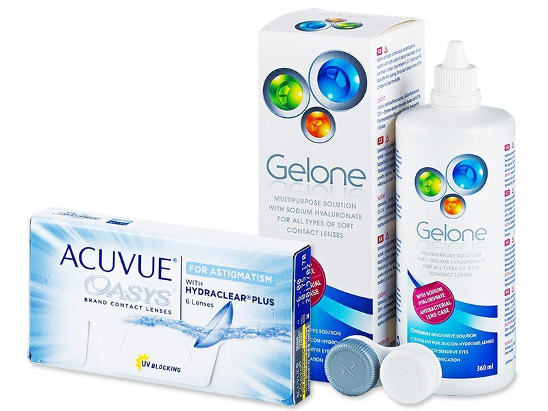 Acuvue Oasys for Astigmatism (6lentillas) +LíquidoGelone360 ml - Pack ahorro
