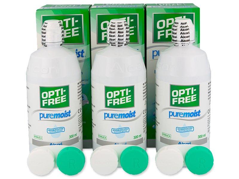 Líquido OPTI-FREE PureMoist 3x300ml  - Alcon