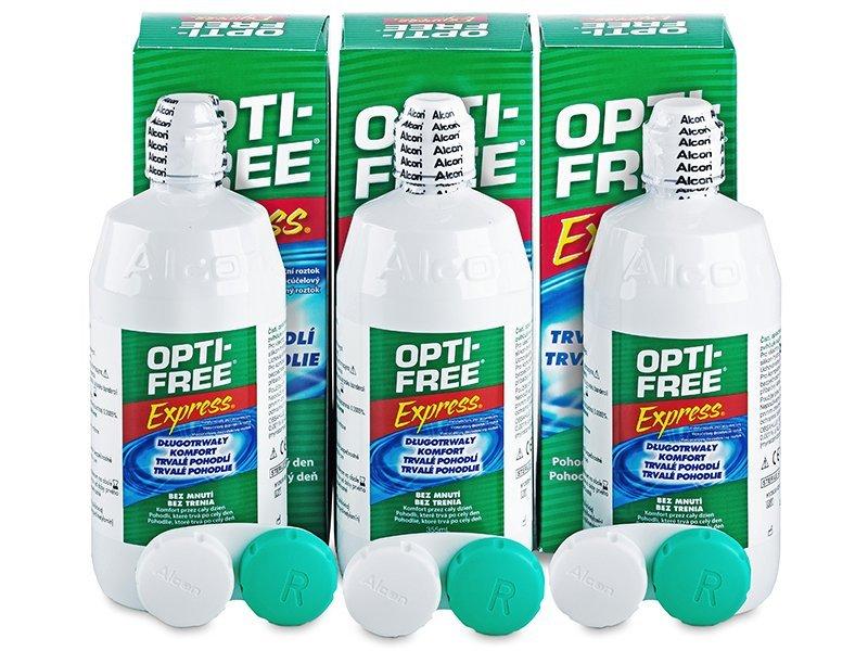 Líquido OPTI-FREE Express 3x355ml  - Pack ahorro - solución triple - Alcon