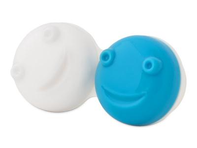 Estuche para limpiador de lentillas vibratorio -  azul