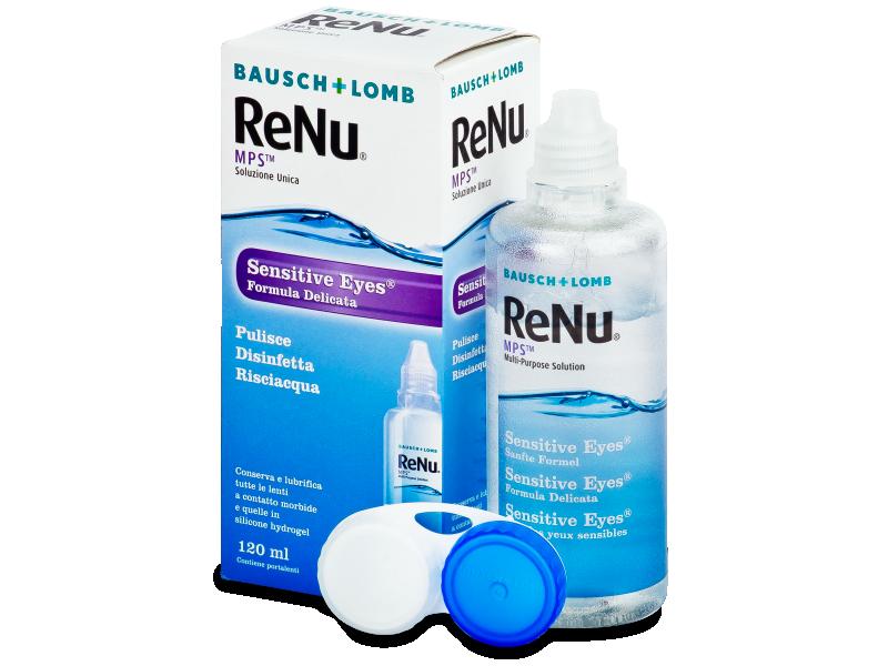 Líquido ReNu MPS Sensitive Eyes 120 ml  - líquido de limpieza