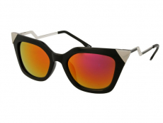 Gafas de sol - Gafas de sol Alensa Cat Eye Shiny Black Mirror