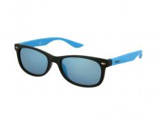 Gafas de sol Wayfarer - Kids sunglasses Alensa Sport Black Blue Mirror