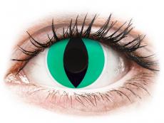 Lentillas de color verde - sin graduación - ColourVUE Crazy Lens - Anaconda - Sin graduación (2 lentillas)