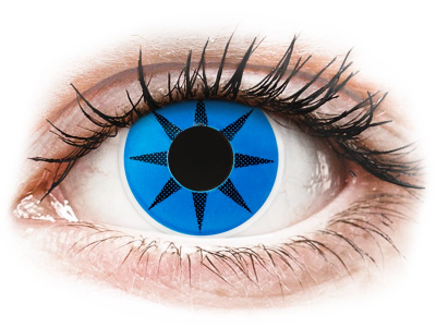 ColourVUE Crazy Lens - Blue Star - Sin graduación (2 lentillas)