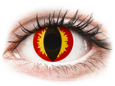 Lentillas de colores Maxvue Vision - ColourVUE Crazy Lens - Dragon Eyes - Sin graduación (2 lentillas)