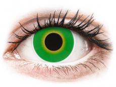 Lentillas Maxvue Vision - ColourVUE Crazy Lens - Hulk Green - Sin graduación (2 lentillas)