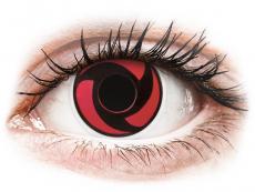 Lentillas Maxvue Vision - ColourVUE Crazy Lens - Mangekyu - Sin graduación (2 lentillas)