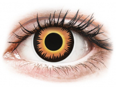Lentillas de colores Maxvue Vision - ColourVUE Crazy Lens - Orange Werewolf - Sin graduación (2 lentillas)