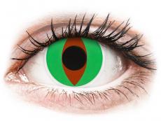 Lentillas de color verde - sin graduación - ColourVUE Crazy Lens - Raptor - Sin graduación (2 lentillas)