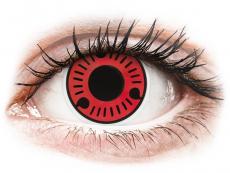 Lentillas de colores especiales - sin graduación - ColourVUE Crazy Lens - Sasuke - Sin graduación (2 lentillas)