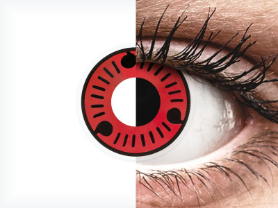 ColourVUE Crazy Lens - Sasuke - Sin graduación (2 lentillas)