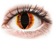 Lentillas de color amarillo - sin graduación - ColourVUE Crazy Lens - Saurons Eye - Sin graduación (2 lentillas)
