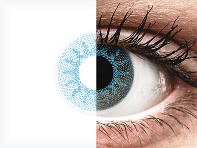 ColourVUE Crazy Lens - Solar Blue - Sin graduación (2 lentillas)