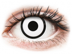 Lentillas Maxvue Vision - ColourVUE Crazy Lens - White Zombie - Sin graduación (2 lentillas)