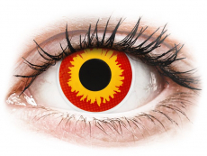 Lentillas de color naranja - sin graduación - ColourVUE Crazy Lens - Wildfire - Sin graduación (2 lentillas)