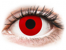 Lentillas Maxvue Vision - ColourVUE Crazy Lens - Red Devil - Graduadas (2 lentillas)