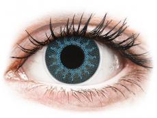 Lentillas de colores especiales - con graduación - ColourVUE Crazy Lens - Solar Blue - Graduadas (2 lentillas)
