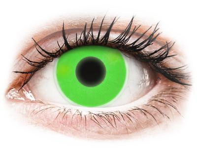 ColourVUE Crazy Glow Green - Sin graduación (2 lentillas)