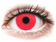 Lentillas de colores Maxvue Vision - ColourVUE Crazy Glow Red - Sin graduación (2 lentillas)