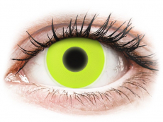 Lentillas de colores Maxvue Vision - ColourVUE Crazy Glow Yellow - Sin graduación (2 lentillas)