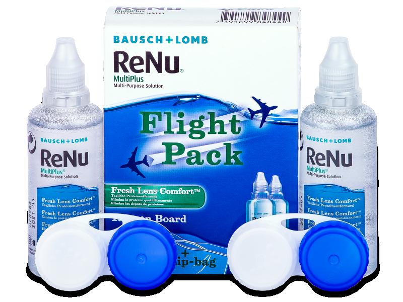 Líquido ReNu Multiplus flight pack 2 x 60 ml  - líquido de limpieza