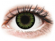 Lentillas de colores Maxvue Vision - ColourVUE BigEyes Party Green - Sin graduación (2 lentillas)