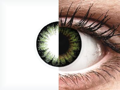 ColourVUE BigEyes Party Green - Sin graduación (2lentillas)