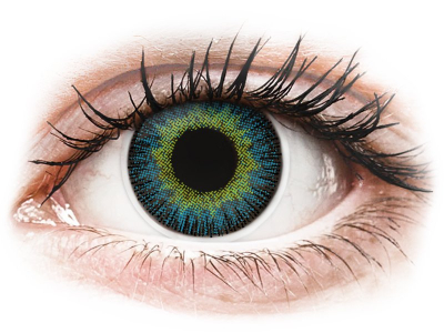 ColourVUE Fusion Yellow Blue - Sin graduación (2 lentillas)