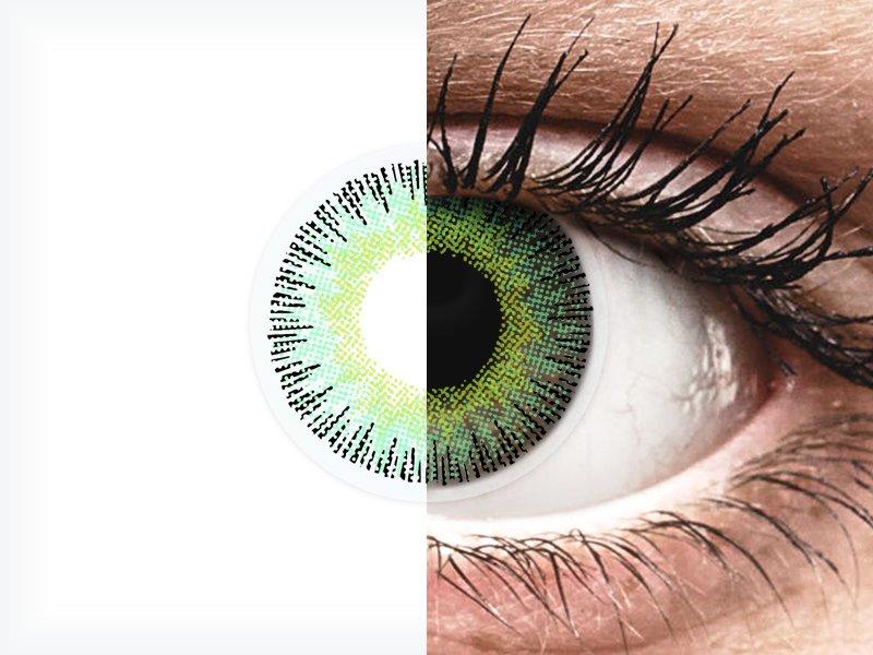 ColourVUE Fusion Green Yellow - Sin graduación (2lentillas)