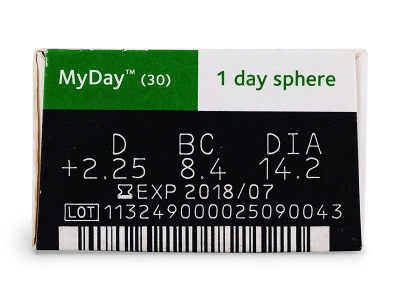 MyDay daily disposable (30lentillas) - Previsualización de atributos