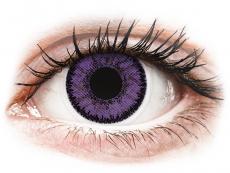 Lentillas de color púrpura - sin graduación - SofLens Natural Colors Indigo - Sin graduación (2 Lentillas)