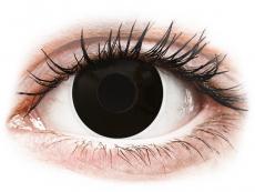 Lentillas de color negro - sin graduación - ColourVUE Crazy Lens - Blackout - Diarias sin graduación (2 Lentillas)