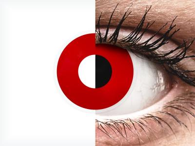 ColourVUE Crazy Lens - Red Devil - Diarias sin graduación (2 Lentillas)